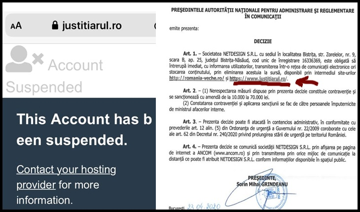 Site-ul celui mai critic jurnalist din Sibiu la adresa lui Iohannis, redus la tăcere de ANCOM