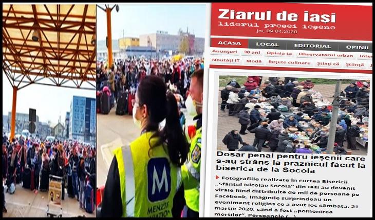 În aceeași zi în care la Cluj era puhoi de lume, la Iași jubilau presa secularistă și militanții antiortodocși că s-a deschis dosar penal pentru o manifestare religioasă, Foto: Ziaruldeiasi.ro