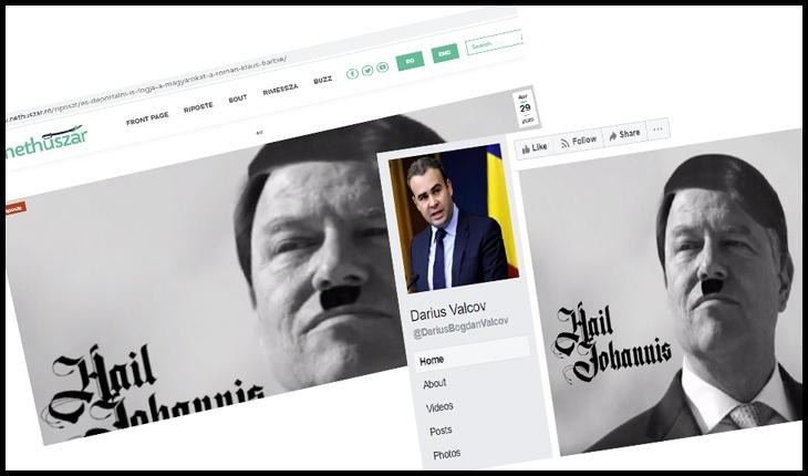 O publicație maghiară a folosit poza cu Iohannis comparat cu Hitler, pentru care a fost amendat de CNCD Darius Vâlcov în trecut