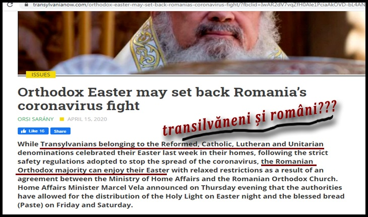 Transilvăneni și români: așa ne împarte propaganda maghiară din punct de vedere religios!?, Foto: captură transylvanianow.com