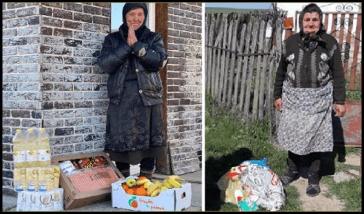 """""""O pungă cu alimente, o avere pentru un bătrân"""", acesta este îndemnul Asociației Europene a Drepturilor Omului și Protecției Sociale pentru sprijinirea persoanelor aflate în situaţii de risc, Foto: stirideactualitate.ro"""