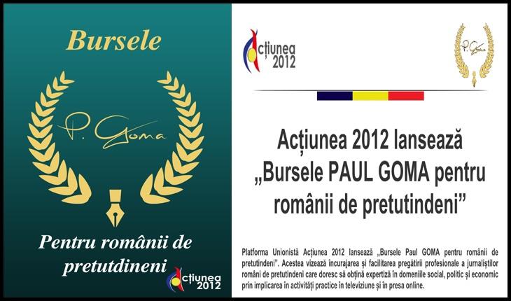 """Acțiunea 2012 lansează """"Bursele Paul GOMA pentru românii de pretutindeni"""""""