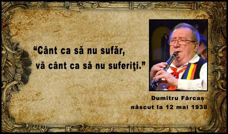 La 12 mai 1938 se năștea taragotistul român de muzică populară, Dumitru Fărcaș