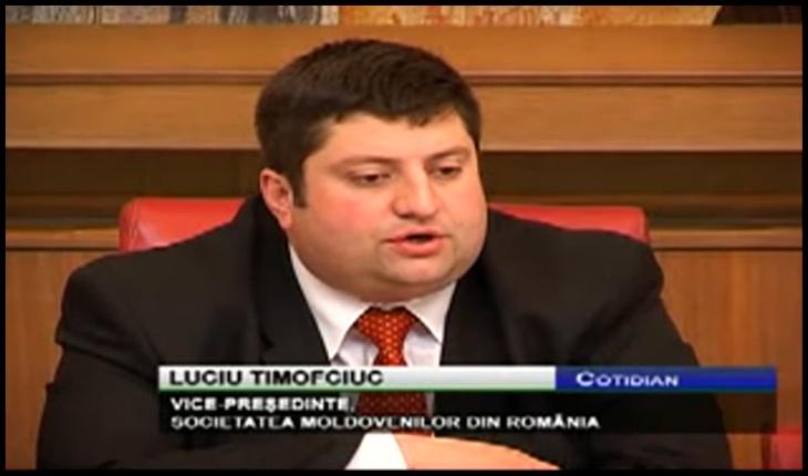 Lucian Timofticiuc, membru fondator al Comunităţii Moldovenilor din România, Foto: captură youtube