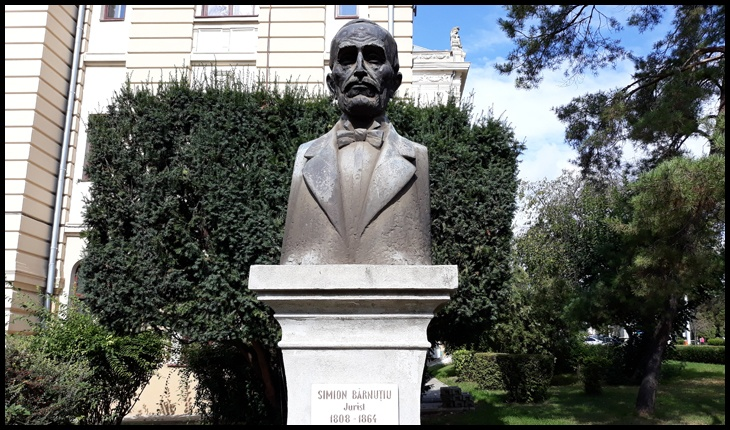 Bustul lui Simion Bărnuțiu de la Universitatea Al. I. Cuza din Iași, Foto: © Glasul.info / Fandel Mihai