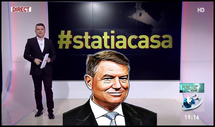 STAȚI ÎN CASE! Lăsați-ne să furăm liniștiti!, Foto original: captură Antena 3