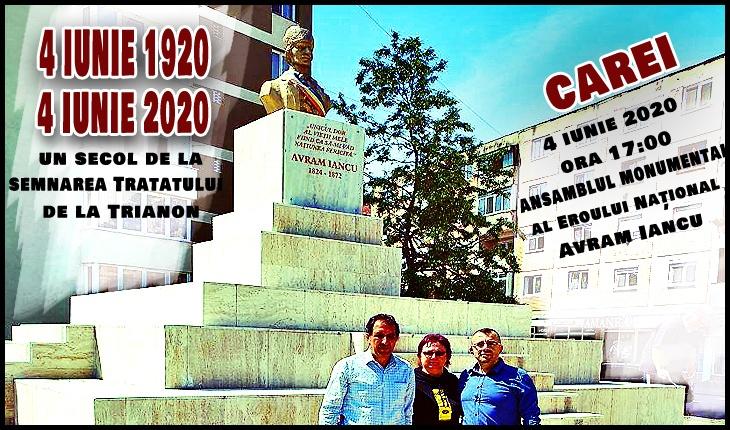 4 Iunie 2020: Are loc la Carei sfințirea monumentului lui Avram Iancu, ansamblu monumental renovat de curând