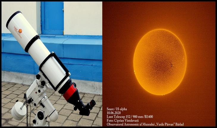 """Cel mai mare telescop pentru observații solare din România va fi inaugurat la Observatorul Astronomic al Muzeului """"Vasile Pârvan"""" din Bârlad, Județul Vaslui"""