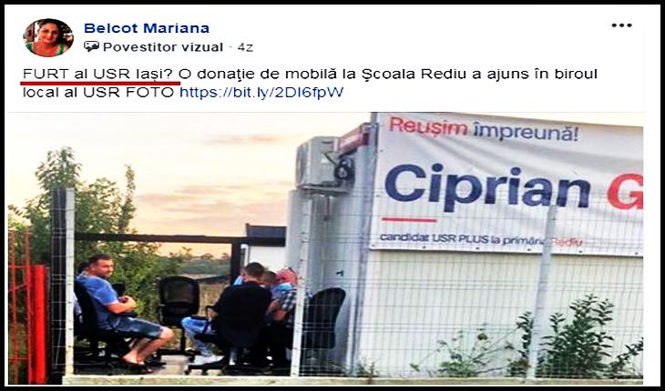 Jos corupții altora, și sus corupții USR-ului? USR Rediu, un focar de corupție, Foto: captură facebook