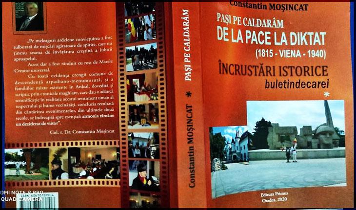 """""""Pași pe caldarâm, de la pace la DIKTAT"""", o carte document despre Dictatul de la Viena"""