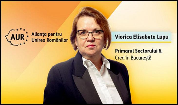 Viorica-Elisabeta Lupu va candida pentru funcția de Primar al Sectorului 6