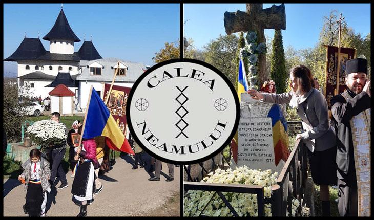 De Sfinții Arhangheli Mihail și Gavriil au răsărit florile românismului la Vlădiceni, Iași: copii îmbrăcați în haine naționale dăruite de Calea Neamului, filiala Iași