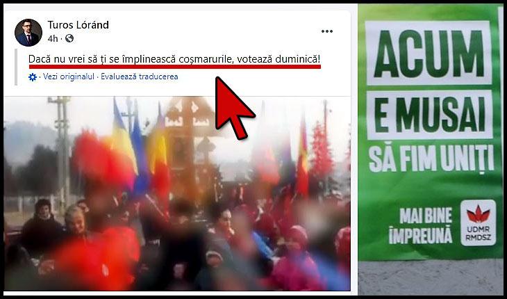"""Electoratul UDMR-ului mobilizat la vot pentru a nu se trezi într-un viitor """"de coșmar"""" unde ar putea conduce… românii"""