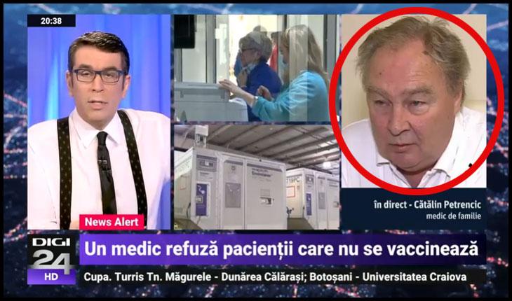 Senatoarea Diana-Iovanovici Șoșoacă anunță că îi face plângere penală medicului care încearcă să-și constrângă pacienții să se vaccineze, Foto: Digi 24