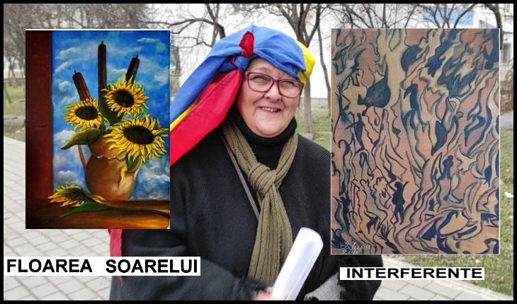Artista și luptătoarea civică Elena Vukic își scoate la licitație patru tablouri, iar veniturile le donează pentru acte de caritate