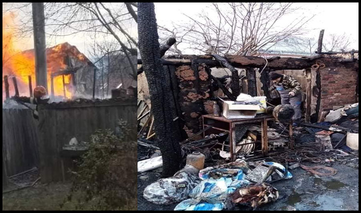 Scriitorul Sorin Petrariu se implică în ajutorarea familiei cu cinci copii căreia i-a ars casa la Schitu Duca, Foto: Facebook / Vasilica Carlescu