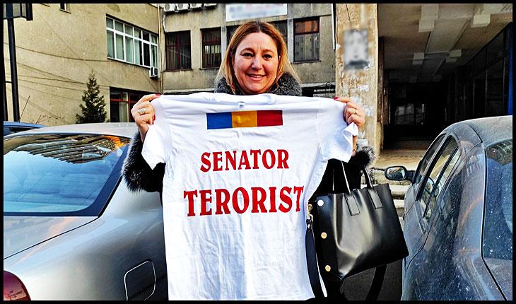 """Diana Iovanovici Șoșoacă: """"MĂ DECLAR UNICUL SENATOR TERORIST DIN PARLAMENTUL ROMANIEI!"""", Foto: © Glasul.info"""