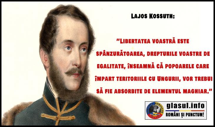 Ce a însemnat 15 -17 martie 1848 împotriva românilor? Lajos Kossuth: ''Libertatea voastră este spânzurătoarea, drepturile voastre de egalitate, înseamnă că popoarele care împart teritoriile cu Ungurii, vor trebui să fie absorbite de elementul maghiar''