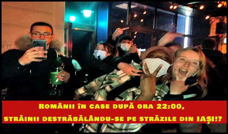 În timp ce românii sunt trimiși la culcare odată cu găinile, străinii se bețivănesc și se destrăbălează liberi pe străzile din Iași!?, Foto: © Mihaela Dascălu, corespondent Glasul.info