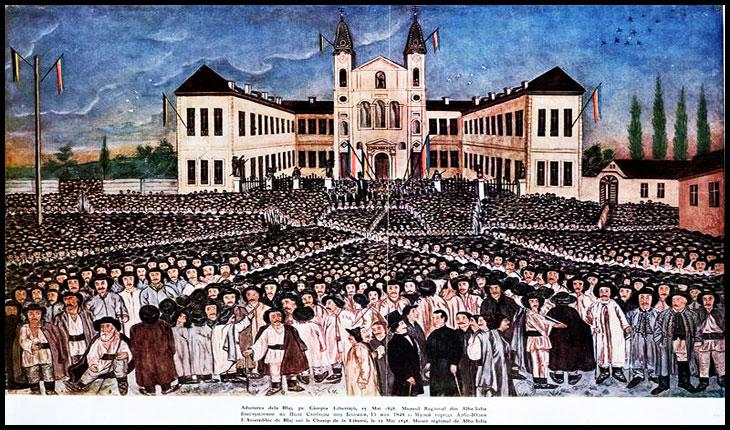 18 aprilie 1848: La Blaj, are loc prima adunare a românilor din Transilvania, în cadrul căreia s-a hotărât sa se convoace, pentru 3 mai, Marea Adunare Naţională