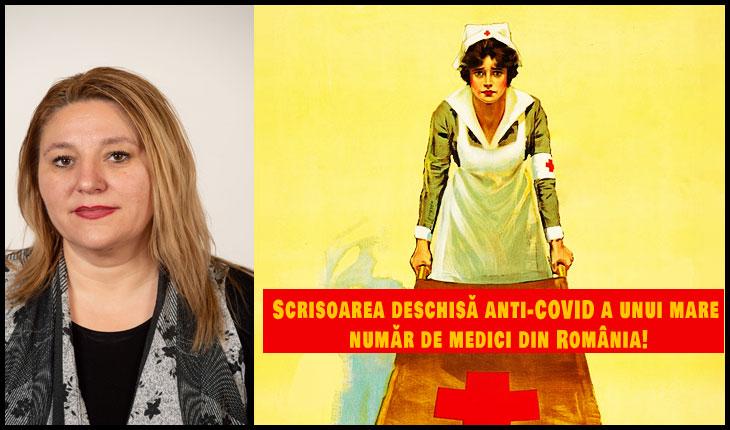 """Diana IOVANOVICI-ŞOŞOACĂ: """"Scrisoarea deschisă anti-COVID a unui mare număr de medici din România!"""""""