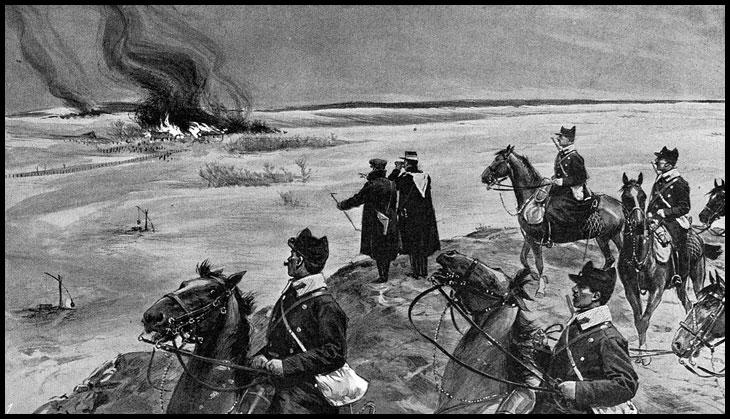 24 Aprilie 1907: Raport al primarului comunei Cornurile, judeţul Prahova, referitor la recompensarea unor soldaţi şi rezervişti din localitate, de către moşierul Alexandru G. Cantacuzino, pentru participarea la reprimarea răscoalei