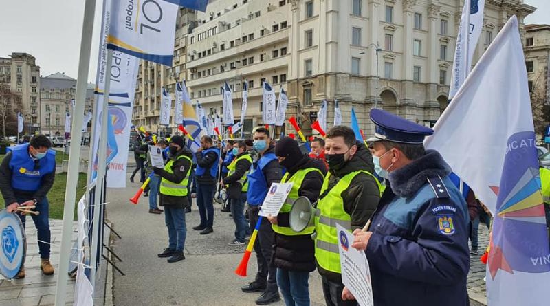 Live! Polițiștii protestează în fața Guvernului României! Cer demisia premierului Florin Câțu!