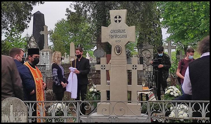 (VIDEO): Ceremonia de resfințire a mormântului lui George Topîrceanu