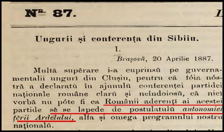3 Mai 1887: Câtă toleranță aveau ungurii față de pretențiile de autonomie ale românilor din Ardeal?