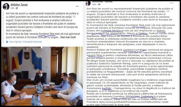 Prefectul de Satu Mare defechează pe limba oficială a statului român