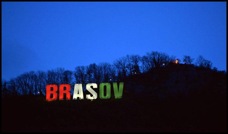 Primăria Brașov se crede în Ungaria: a vopsit literele de pe Tâmpa în culorile steagului Ungariei,Foto: Facebook / Primăria Municipiului Braşov