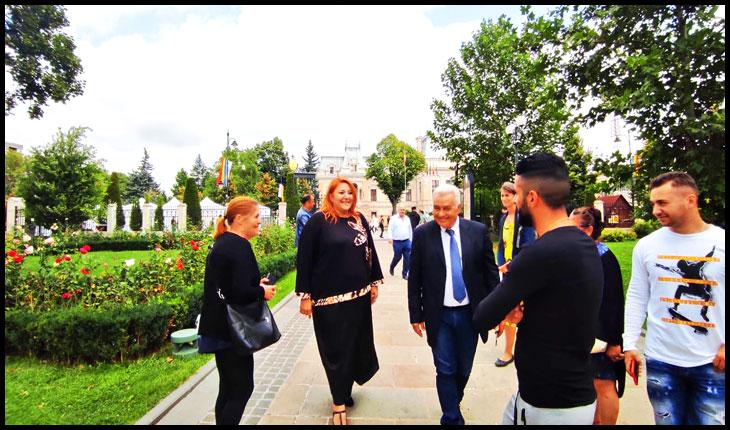 Magistratul italian Angelo Giorgianni la Iași, împreună cu senatoarea Diana Iovanovici-Șoșoacă