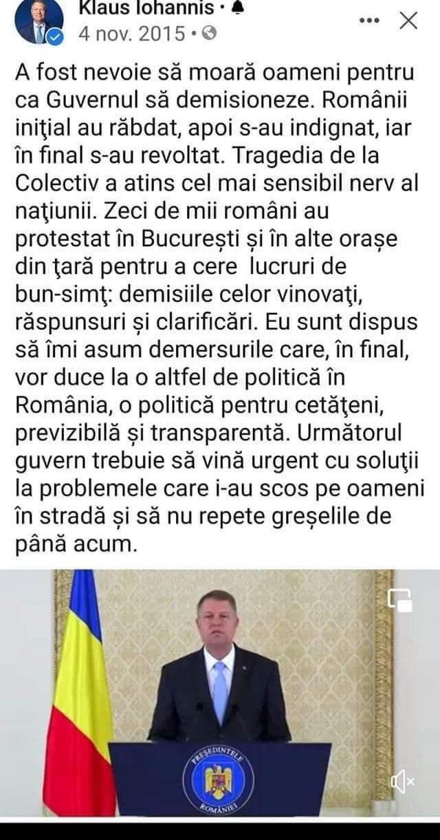 Klaus Iohannis cerșea un nou guvern după Colectiv